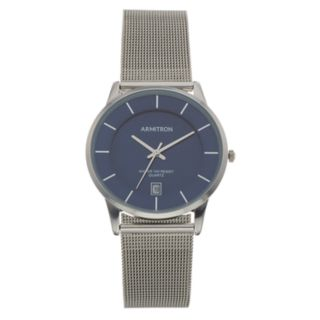 Armitron Men's Stainless Steel Mesh Watch - 20/5123NVSV