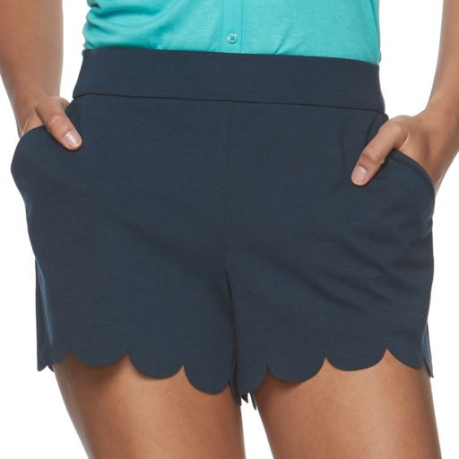 Juniors' Candie's® Scalloped Pull-On Shorts