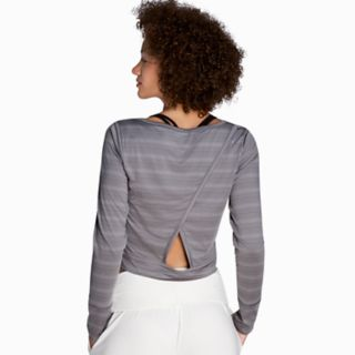 Women's Danskin Cutout Back Long Sleeve Top
