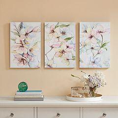 Madison Park Nectar Florals Canvas Wall Art 3-piece Set
