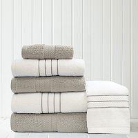 Quick Dry 6-piece Stripe Contrast Bath Towel Set