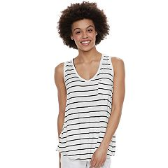 Juniors' SO® Striped Pocket V-Neck Tank