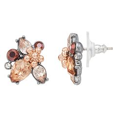 Simply Vera Vera Wang Two Tone Flower Cluster Stud Earrings