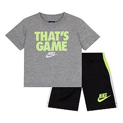 Boys 4-7 Nike 'That's Game' Graphic Tee & Striped Shorts Set