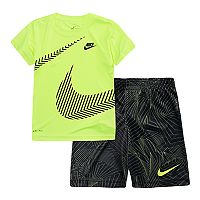 Boys 4-7 Nike Wrap Around Swoosh Tee & Abstract Shorts Set