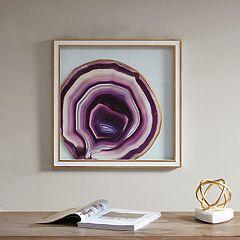 Madison Park Purple Gemstone Glass Wall Decor