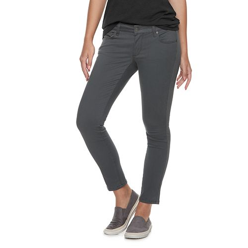 Petite SONOMA Goods for Life™ Sateen Mid-Rise Skinny Pants