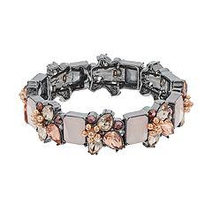 Simply Vera Vera Wang Cluster Stone Stretch Bracelet