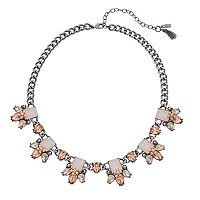 Simply Vera Vera Wang Pink Cluster Collar Necklace