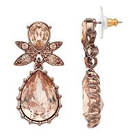 Simply Vera Vera Wang Pink Simulated Crystal Teardrop Earrings