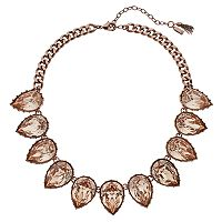 Simply Vera Vera Wang Peach Teardrop Collar Necklace
