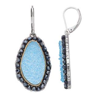 Simply Vera Vera Wang Blue Drusy Drop Earrings