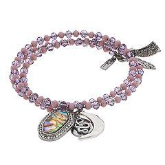 Simply Vera Vera Wang Beaded Coil Charm Bracelet
