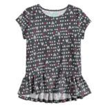 Girls 4-10 Jumping Beans® Pieced Ruffle Hem Top