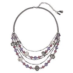 Simply Vera Vera Wang Purple Bead Multi Strand Necklace
