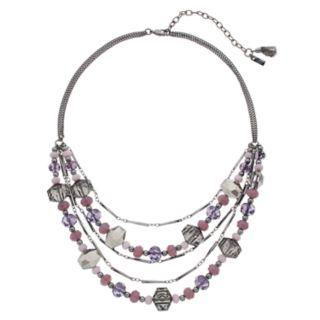 Simply Vera Vera Wang Purple Bead Multi Strand Necklace