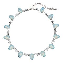 Simply Vera Vera Wang Blue Teardrop Collar Necklace