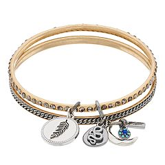 Simply Vera Vera Wang Charm Bangle Set