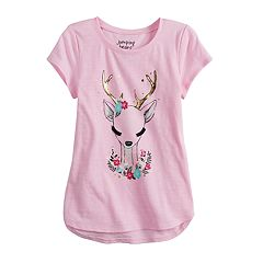Girls 4-12 Jumping Beans® Embellished Graphic Short-Sleeve Tee