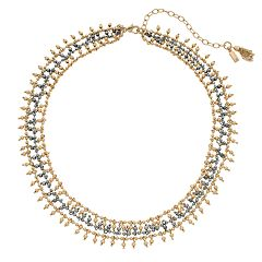 Simply Vera Vera Wang Two Tone Beaded Collar Necklace