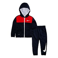 Toddler Boy Nike Dri-FIT Colorblock Zip Hoodie & Jogger Pants Set