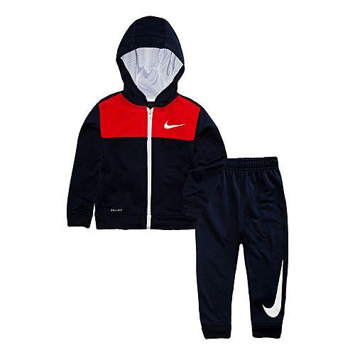 0895c4b09 Toddler Boy Nike Dri-FIT Colorblock Zip Hoodie & Jogger Pants Set