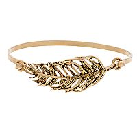 Simply Vera Vera Wang Gold Tone Feather Bangle Bracelet