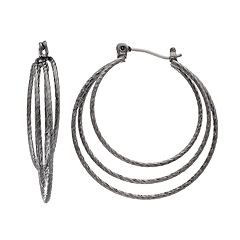Simply Vera Vera Wang Textured Triple-Hoop Earrings