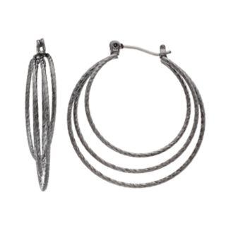 Simply Vera Vera Wang Textured Triple-Hoop Earrings
