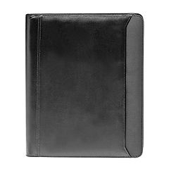 Natico 12.5' x 10.25' Black Zippered Portfolio