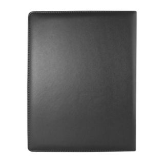 "Natico 12.5"" x 10.25"" Black Zippered Portfolio"