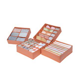 Neu Home Multi Purpose 4-piece Drawer Organizer Set