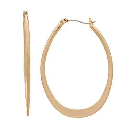 Simply Vera Vera Wang Gold Tone Oval Hoop Earrings