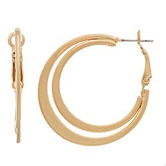 Simply Vera Vera Wang Gold Tone Double Hoop Earrings