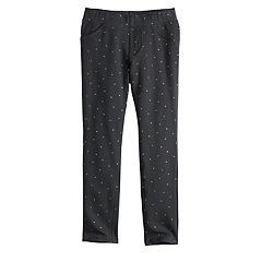 Girls 4-10 Jumping Beans® Printed French Terry Jeggings