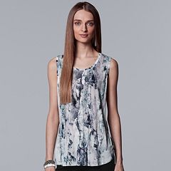 Women's Simply Vera  Vera Wang Watercolor Tulip Hem Tank