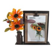 "SONOMA Goods for Life? Artificial Sunflower 4"" x 6"" Photo Clip Frame"