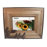 "SONOMA Goods for Life? ""Be Thankful"" 4"" x 6"" Frame"