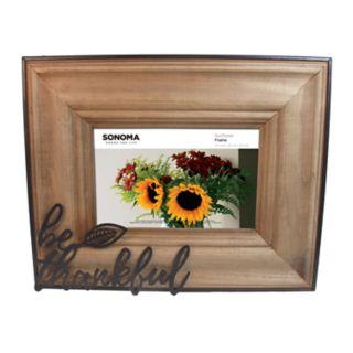 "SONOMA Goods for Life? ""Be Thankful"" 4"" x 6"" Frame"
