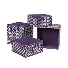 Neu Home Print 4-piece Foldable Storage Drawer & Tray Set