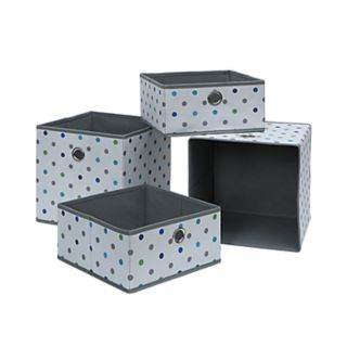 Neu Home Print 4-piece Foldable Storage Drawer & Tray Set