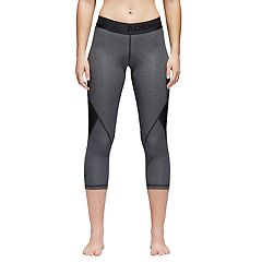 Women's adidas Alphaskin Sport Heather Mid-Rise Capri Leggings
