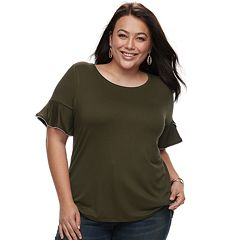Plus Size Apt. 9® Beaded Flutter Tee