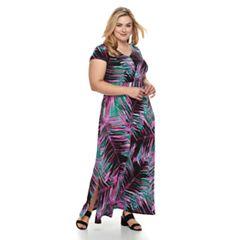 Plus Size Dana Buchman Shirred Maxi Dress