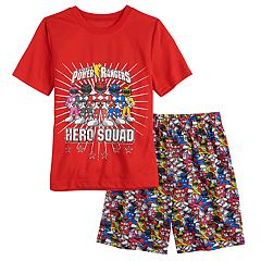 Boys 4-12 Power Rangers 2-Piece Pajama Set