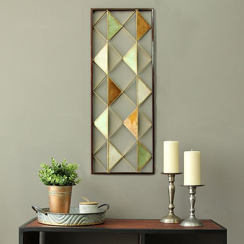Stratton Home Decor Triangle Panel Wall Decor