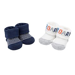 Baby Boy Carter's 2-pack 'Roar' & Striped Keepsake Booties