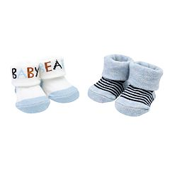 Baby Boy Carter's 2-pack 'Baby Bear' & Striped Keepsake Booties