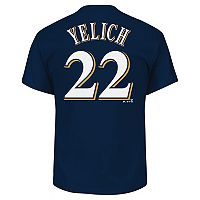 Big & Tall Majestic Milwaukee Brewers Christian Yelich Name and Number Tee