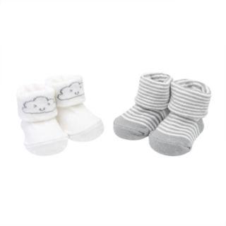Baby Carter's 2-pack Cloud & Striped Keepsake Booties